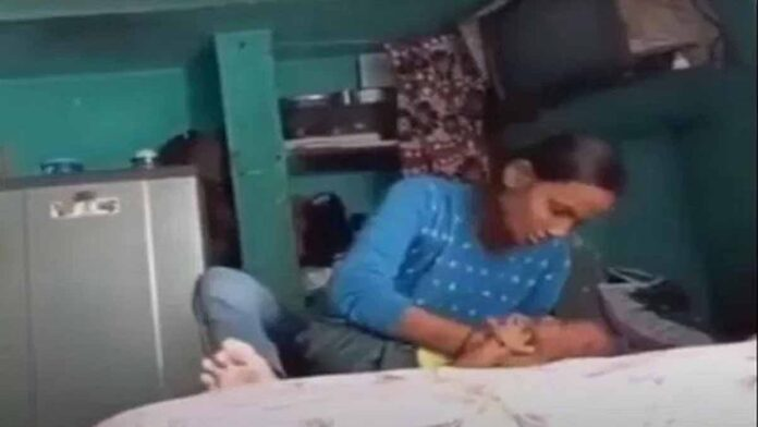 The video of a mother beating a seven-month-old child is viral