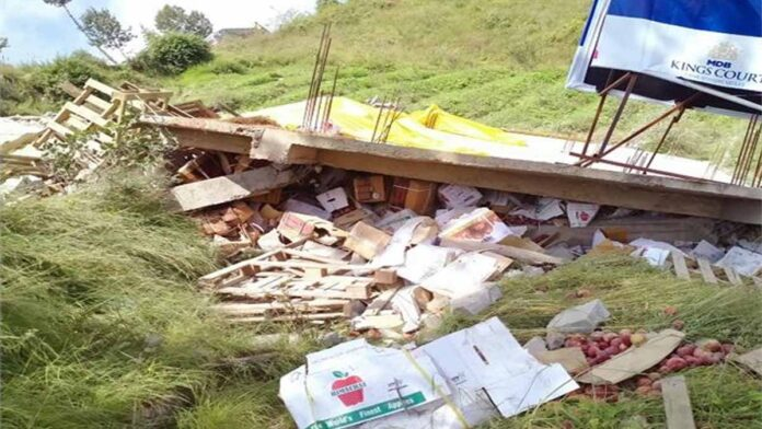 four-storey house suddenly collapsed in Theog Matiana of Shimla